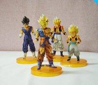 Lot 4pcs DragonBall/Dragon Ball Z Figure Figurine Set Free Shipping Xmas gift