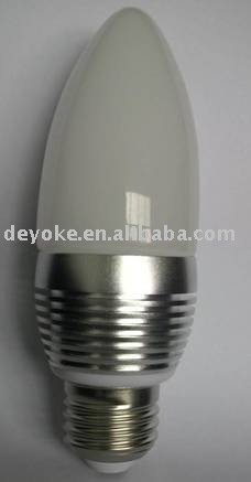 Free Shipping,Dimmable 3W Led candle light, Online wholesale with 2 year warranty (dyk-bulb-09)(China (Mainland))