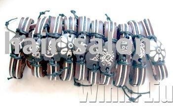 Free Shipping! 50% PROMOTION  Wholesale Mix Lots48 Strands MEN'S OX bone Tribal Bracelets Bangle Chain Jewellery fashion Jewelry