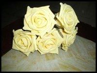 Material of the bride wrist flowers yellow rose 6-9cm OEM MOQ: 1000PCS flower material