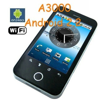 A3000 Google android 2.2 OS mobile phone support  WIFI TV GPS undroid phones  A3000