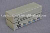 Free Shipping+4 Port Video VGA SVGA Splitter Support 250MHz FOR 1 PC/ 250mhz 4 port vga splitter