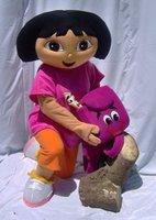 Adult Dora Costume Character Mascot  free shipping Cartoon Mascot Costume Christmas Party Dress