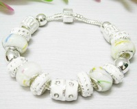Hot selling crystal beads bracelet  jewellery 925 sterling silver charm chamilia bracelet for woman Free shipping