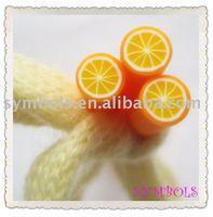 a-05 Free Shipping 100pcs 5mm Orange Shape Fruit Cane Fancy Nail Art Polymer Clay Cane