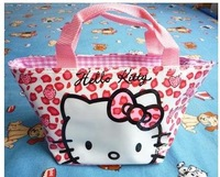 New pink Hello kitty cute lunch bag Handbag #88