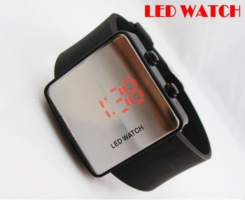 wholesale! NEW Fashion  Boy Girls ODM jelly Watch, ODM Mirror LED watches Digital watches FREE shipping