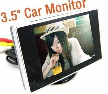 3.5 inch TFT LCD Car Monitor Car Reverse Backup Camera Car Monitor free shipping singpost ---promotion!!!!