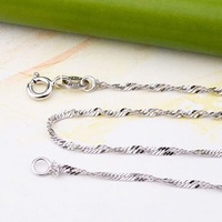 Wholesale free shipping 925 silver necklace chain jewelry SC013w