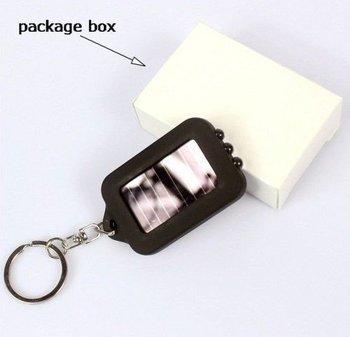 Free Shipping, 40pcs/lot wholesale Colorful Mini Solar Power Rechargeable LED Flashlight Torch Light