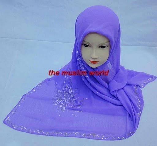 ss026 roxo muçulmano quente quadrado cachecol da broca para o transporte livre em 8 cores sortidas(China (Mainland))