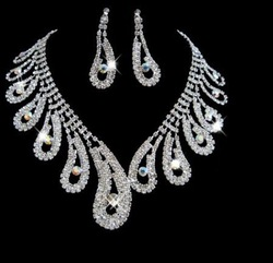 Manufacturer supply High quality wedding crystal bridal jewelry sets JBS124(China (Mainland))