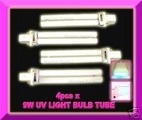 FREE SHIPPING 4 x 9W UV GEL NAIL ART CURING LAMP LIGHT BULB TUBE #45