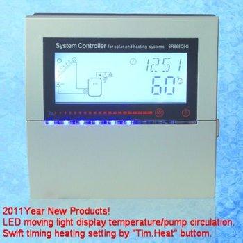 SR868C9Q solar controller 2011 New Products LED Flashing Light Temperature Display/Pump Circulation
