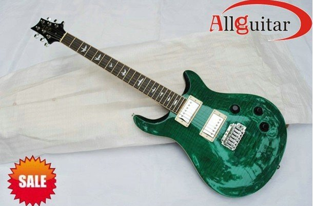 Wholesale PRS Paul Reed Smith Custom 22 Trans green wtih Floyd rose Electric Guitar Electric guitar free shipping(China (Mainland))