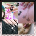 free shipping-nail art decoration,rhinestone pendant for nail art,drop/charm for nail art,30 packs/lot,mix at least 6 designs