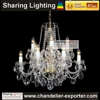 [Sharing Lighting]Gold Supplier 100% Guarantee 24% lead Italty glass candle Chandelier,bohemian chandelier crystal lighting