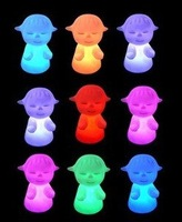 Hot selling colorful Doll Night Light Sleepwalking 100pcs/lot free shipping by DHL