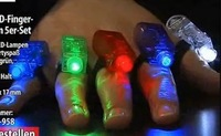 1000pcs/lot, Free shipping, 4pieces/set,colors finger lights, laser lights,holiday gifts