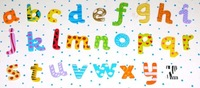 Free shipping,1set/26 pcs small  letter wooden fridge magnets/wooden magnetic stickers/wooden alphabet fridge magnets