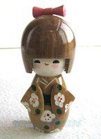 "Free shipping! 5pcs Oriental Japanese Kokeshi dolls wooden doll 5.3"" D10"