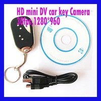 FREE SHIPPING Digital Camera Car Key Camera, Mini hidden DVR Micro camera, 1280*960 Photo 720*480 Video