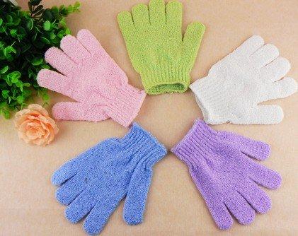 Cloth Mitt Exfoliating Face or Body Bath Scrub Moisturizing gloves April Glove wholesale retail whcn(China (Mainland))