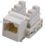 Free Shipping+Brand New Lot=100 RJ45 Keystone jack Network Jack Cat5e/Cat 5e/5{White+Wholesales