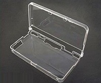 Free Shipping 100pcs/lots For Nintendo 3DS Transparent Clear Case Crystal Cover