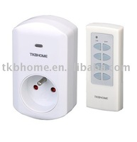 4pcs/lot RF Remote Control Socket for French Plug, with 2,990W Power+free shipping