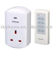 4pcs/lot RF remote control socket  UK type ,with 2,990W Power (learn type)+free shipping