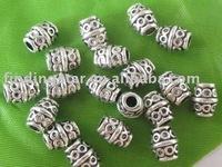 FREE SHIPPING 300pcs Tibetan silver circle barrel spacer beads A204