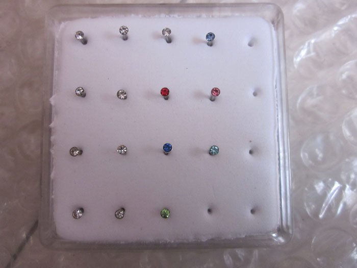 $15 off per $150 order Free shipping,30pcs two boxes,stainless nose stud body jewelry nose jewelry(China (Mainland))