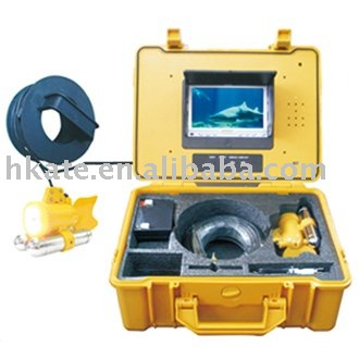 """color fish camera/color fish monitor/fish finder, 7"""" color display, night vision, 20M cable, built-in DVR/battery, 3 ways power"""