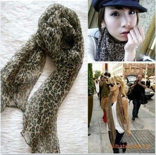 Drop shipping Wholesale Vogue female lady long brand new Leopard scarf scarfs scarves neckerchief 160*50cm