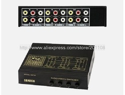 Free Shipping! B62A 4 in 2 SB-S42VA Video & Audio Switcher 4 way V/A Switch(China (Mainland))