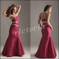 2014 PD041 Hot Sell Floor-length Mermaid taffeta prom dresses