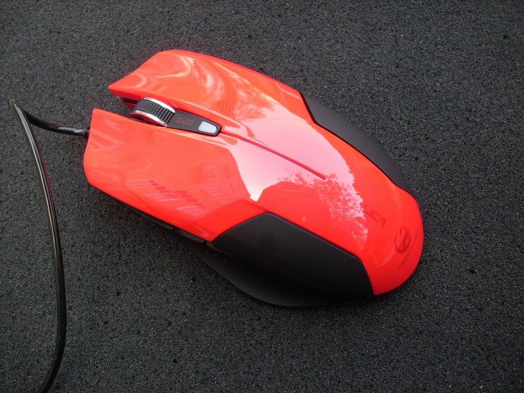 Red Color Enzatec X-luca Teamscorpion Gaming Mouse, Original & Brand New in Box, Fast & free shipping(China (Mainland))