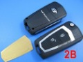 KEY   Hyundai Santa Fe OLD Elantraflip remote Modified key shell 2 button(battery separate )