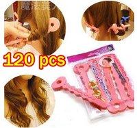 120pcs/lot New sponge rollers sopnge hair rollers hair curler diy hair wave 6pcs/bag