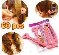 60pcs/lot New sponge rollers sopnge hair rollers hair curler diy hair wave 6pcs/bag