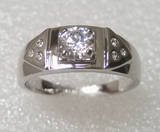 Ring.Size U(10).Free shipping.Exquisite White Topaz 18K GP White Gold Ring.Gift insurance. Provide tracking numbers.