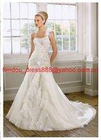 Free shipping new fashion strapless A-line wedding dress /good wedding gown /popular bridal dress / bridal gown