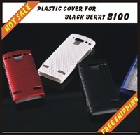Free shipping --New high quality more colours plastic cover case mobile phone cellphone for black berry 8100
