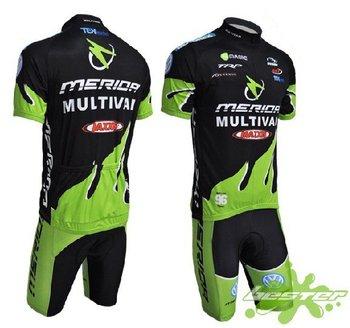 Hot Promotion merida Bicycle Clothing Bike Wear Cycling Jersey And Pant Set 1set