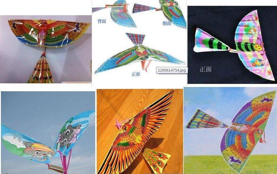 aves bater asas montado aeronave para o modelo de brinquedo de presente de natal(China (Mainland))