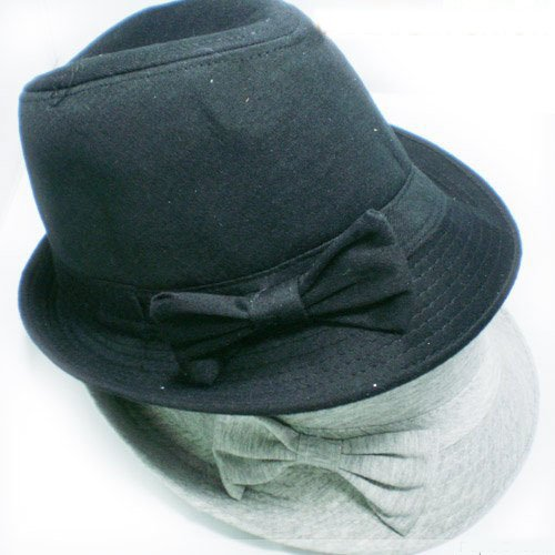 Bowknot Lattice Jazzy Cap Gentlemen Hats Free Shipping(China (Mainland))