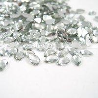 Free shipping 300pcs/lot Acrylic Rhinestone Flatback, Faceted drip,Taiwan acrylic rhinestone, 4*6mm