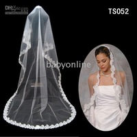 Wholesale - White/Ivory Wedding Bridal Lace Mantilla Chapel Veil