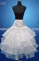 Free shipping !!  wholesale/3 hoop 2 layer organza White with train Wedding Crinoline Petticoat